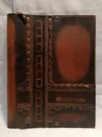 Craftsman leather folder with inscription Szolnok