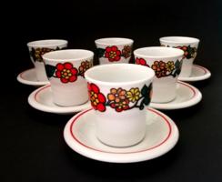 6 pcs retro raven house porcelain glasses with saucer