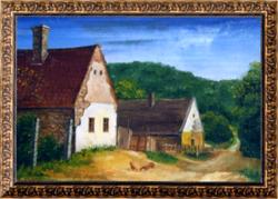 KAPOLCSI UTCA - tájkép (17x11,5 cm)