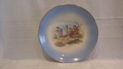 Rare antique zsolnay pécs 470 ii i / 2 porcelain wall plate