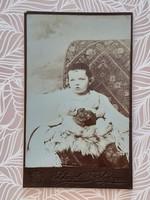 Antique children's photo stagl ferenc sopron old studio photo