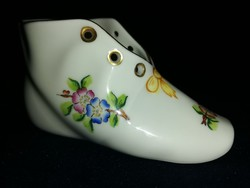 Ritka eton mintás Herendi kis porcelán cipő