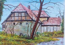 Watermill near Hanover - landscape (28.5x20.7 cm)