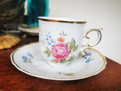 Raven house with rose coffee cup, set