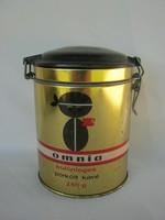 Omnia coffee in metal tin box