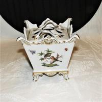 Rare Herend baroque rothschild - flowerpot - potpourri holder