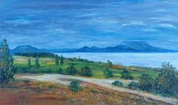 Balatongyörök - landscape (31.6x18.7 cm)