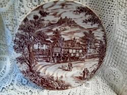 Angol fajansz tányér
