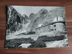 Magas Tátra, Nemzeti Park, a Csilagvizsgáló épülete, nagy méretű képeslap, 1964