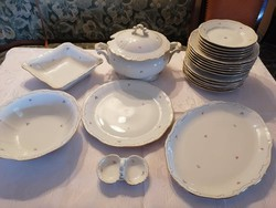 Old zsolnay 24-piece tableware for Balázs users