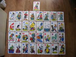 Retro dwarf fairy tale card