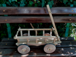 Small hardwood cart made by old handicrafts