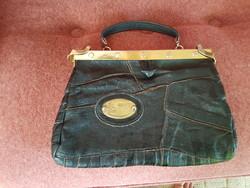 Régi-régi bőr ridikül táska, kézitáska
