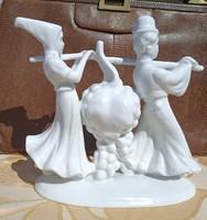Very rare grape vintage Herend white figurine