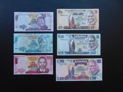 Zambia 6 darab kwacha bankjegy sor !