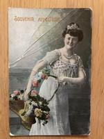 Antique colored postcard - 1912