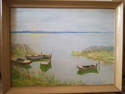 Csáki-maronyák joseph: boats picture gallery painting.