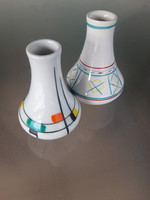 Rare collectible Budapest porcelain vases