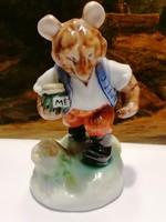 Herend porcelain honey teddy bear figure 14 cm, flawless