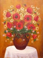 Poppies in a jar - still life (21x28 cm)