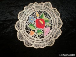 Richelieu embroidered tablecloth from Kalocsa