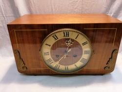2 Key wood case fireplace clock