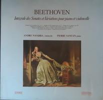 Andre navarra cello - beethoven sonatas and variations on 3 lp vinyl record vinyl