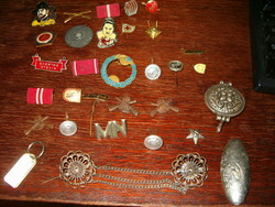 30 Pieces of socialist german military badge marked with beautiful pieces of ddr east german and mh in one