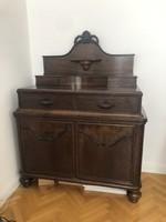 Oak sideboard with rosewood insert