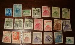 21 Piece Chinese stamp Republic of China sun yat sen more modern hong kong ii. Erzsebet brittel