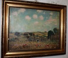 Antik szignált festmény 580