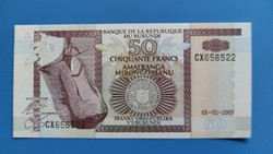 Burundi 50 Francs 2005 UNC