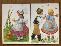 Aranyos Húsvéti képeslap - B. Lazetzky Stella grafika   - ár / db
