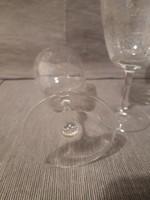 Gyönyörű Gravírozott kristály boros poharak 3 db.