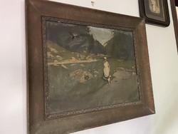 Oil painting folk motif