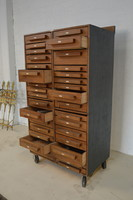 Antique industrial chest of drawers, old tool cabinet