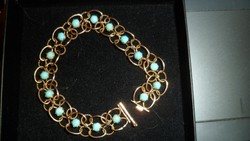 14K gold bracelet / turquoise