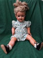 Antique, porcelain, crying doll, könig & wernicke (?), 60Cm. Rare! I'm priced down!