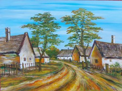 Balaton-felvidéki street - landscape (48x36 cm)