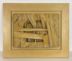 Külföldi művész Scarpitta 1960-as különleges absztrakt munkája Window címmel, nagyon szép!