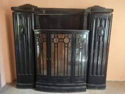 Oak study cabinet