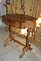 Antique French Napoleon contemporary chess table game table ca.1860