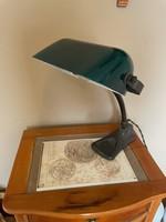 Antik bank lámpa üveg búrával!
