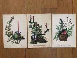 Aranyos Karácsonyi képeslapok - Gyurics Éva rajz  - ár / db