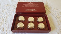 Wmf stil galerie in a silver-plated, rosy napkin ring box.