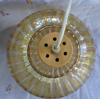 Retro chandelier with glass cover; ceiling lamp, pendant (1970s)