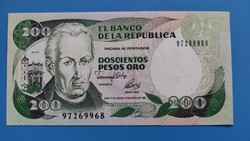 Kolumbia 200 Pesos  UNC