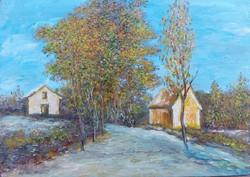 Autumn is here - landscape (24x17 cm)