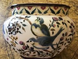Zsolnay bird pot