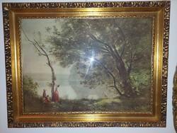 Kèpkeret lametàl aranyozàssal 50 x 69 cm  falc mèrettel